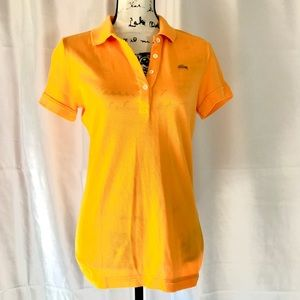LaCoste Vintage Wash Orange Polo Shirt